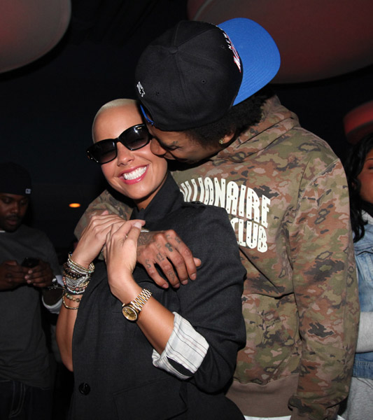 amber rose wiz khalifa. Amber, who rose to prominence