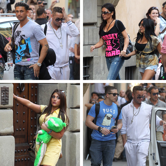 photos of jersey shore cast in italy. The Jersey Shore cast finally