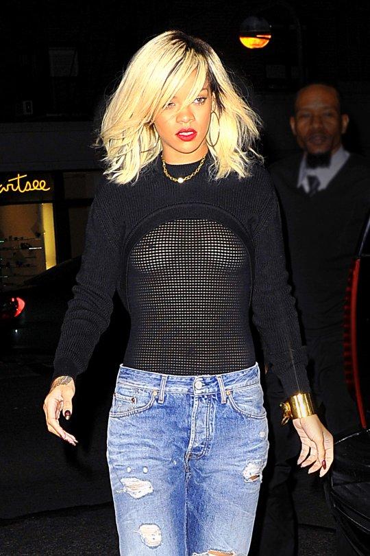 Rihanna Boob Shot