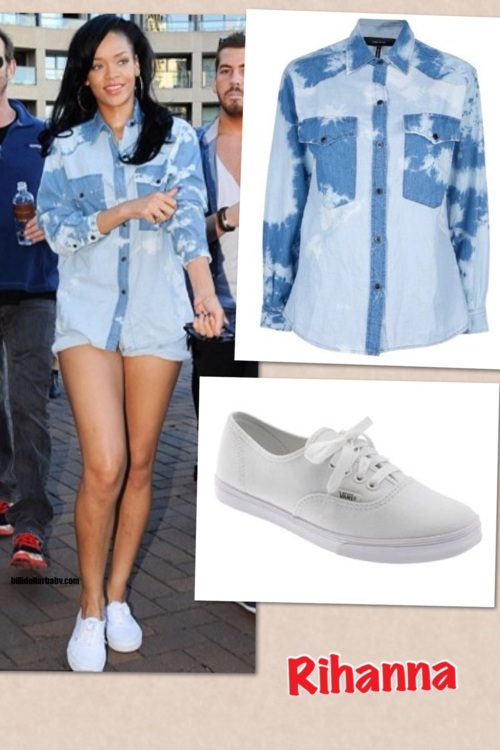 Rihanna wearing vans