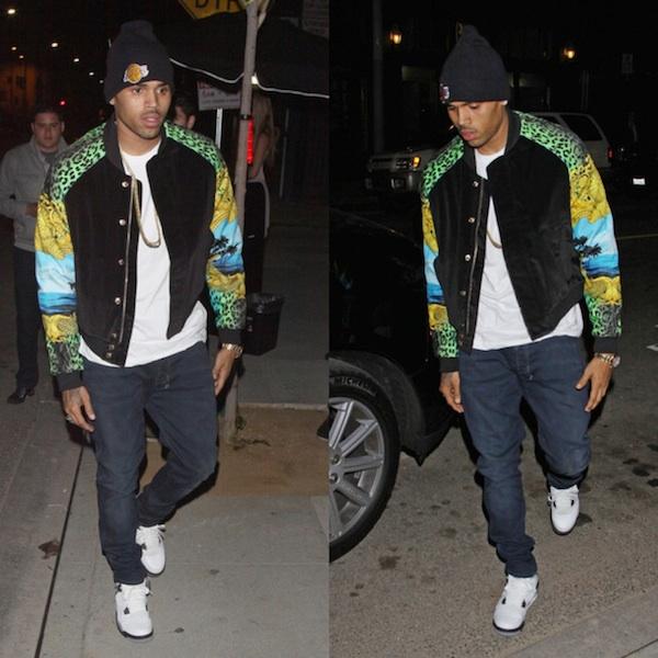 822d5ff3e01253 Chris Brown X H M Versace Jacket X Jordans