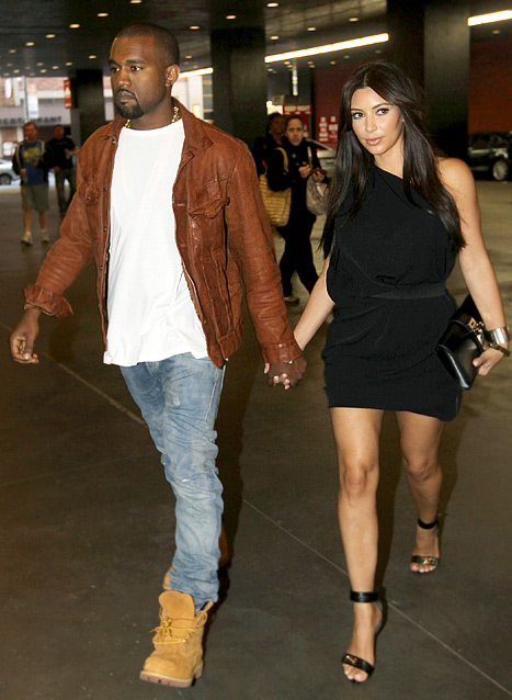 Kanye West and Kim Kardashian - Dating Gossip News Photos