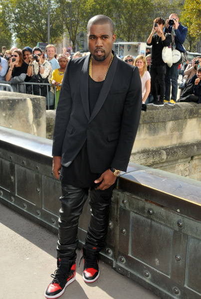 Kanye West Arrives In Style For Christian Dior Fashion Show