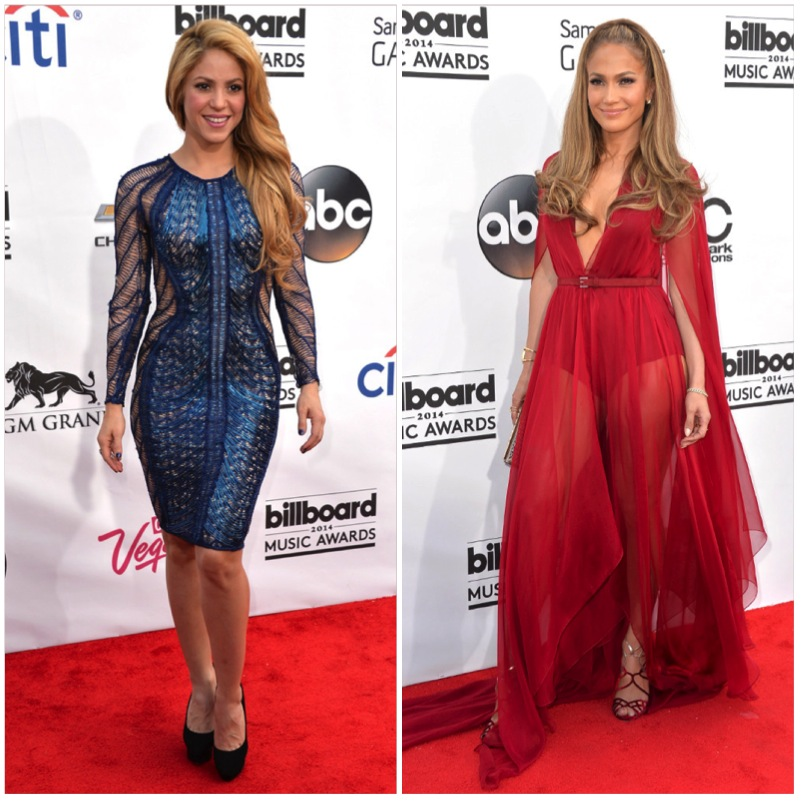 Shakira and Jlo Billboard Awards
